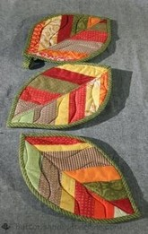 Quilted Leaf Potholder